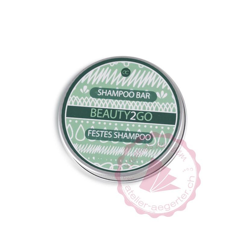 Shampoo Bar / festes Shampoo BEAUTY 2 GO in praktischer Blechdose