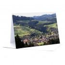 Langnau von Gartegg aus   Foto-Faltkarte A5