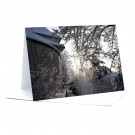 Morgenlicht bei der Kirche Langnau  Foto-Faltkarte A7