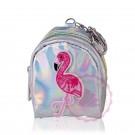 Schlüsselring mit Mini-Geldbörse Flamingo