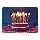 Kuchen mit vielen Kerzen