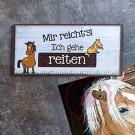 """Magnet Weisheit """"Pferde"""" - """"Mir reicht's! Ich gehe reiten"""""""