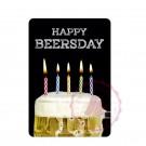 Happy Beersday Bierglas mit Kerzen
