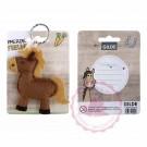 """Schlüsselanhänger Pferd """"Pferde Freunde"""" braun"""