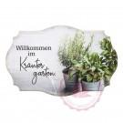 """Schild Weisheit """"Kräutergarten"""" - """"Willkommen im Kräutergarten."""""""