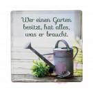 """Schild Weisheit """"Kräutergarten"""" - """"Wer einen Garten besitzt, hat alles, was er braucht."""""""