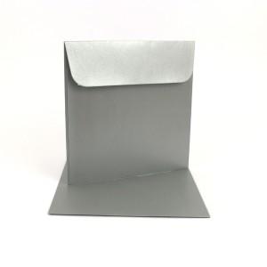 Couvert 16x16, silber Metallic / Pearl