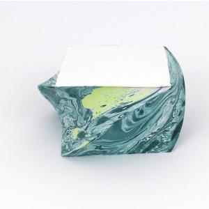 Notizblock_marmoriert_gedreht_Oceangrün mit Limette