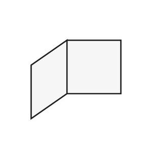 Einlageblatt Quadratisch gefaltet