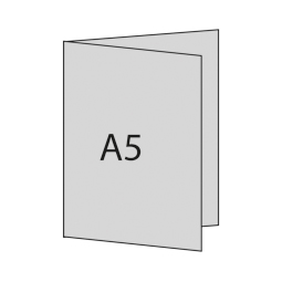A5 hoch links gefaltet