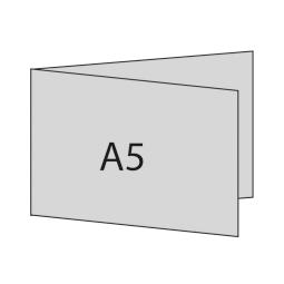 A5 quer links gefaltet