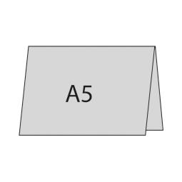 A5 quer oben gefaltet