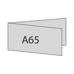 A6/5 quer links gefaltet