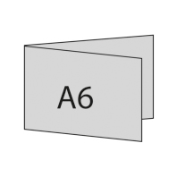 A6 quer links gefaltet