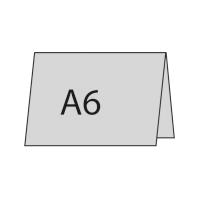 A6 quer oben gefaltet