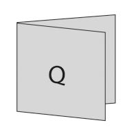 Quadratisch links gefaltet