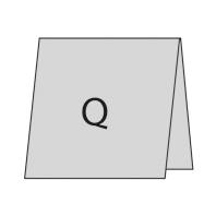 Quadratisch oben gefaltet